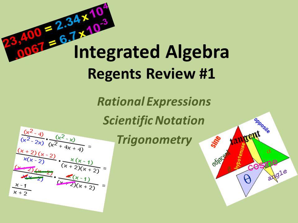 Integrated Algebra Regents Review #1