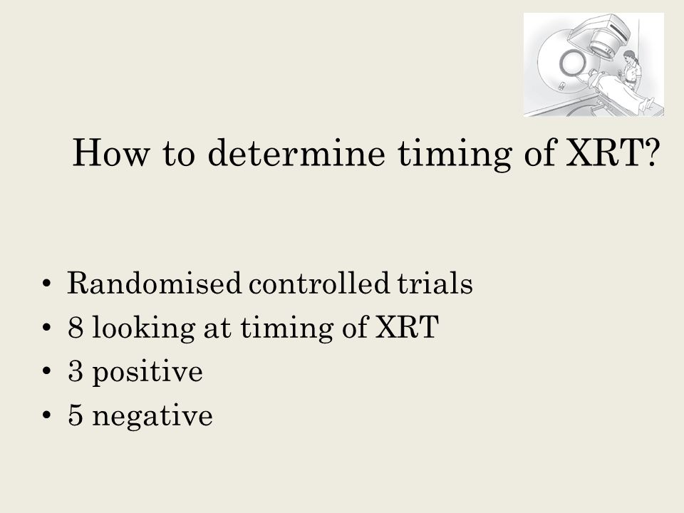 How to determine timing of XRT