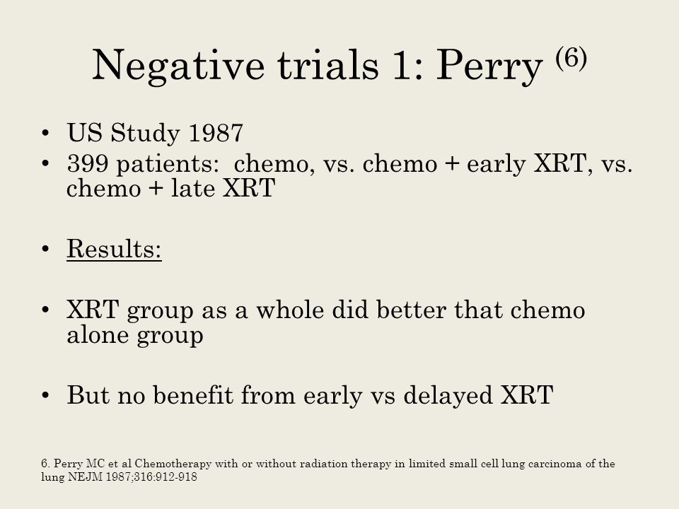 Negative trials 1: Perry (6)