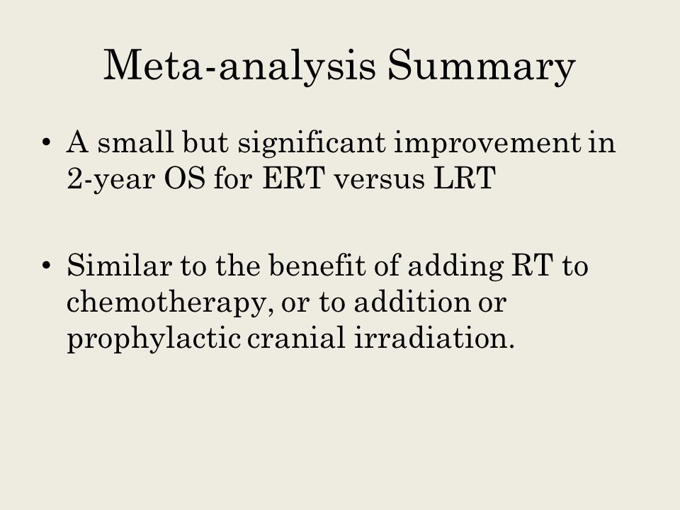 Meta-analysis Summary