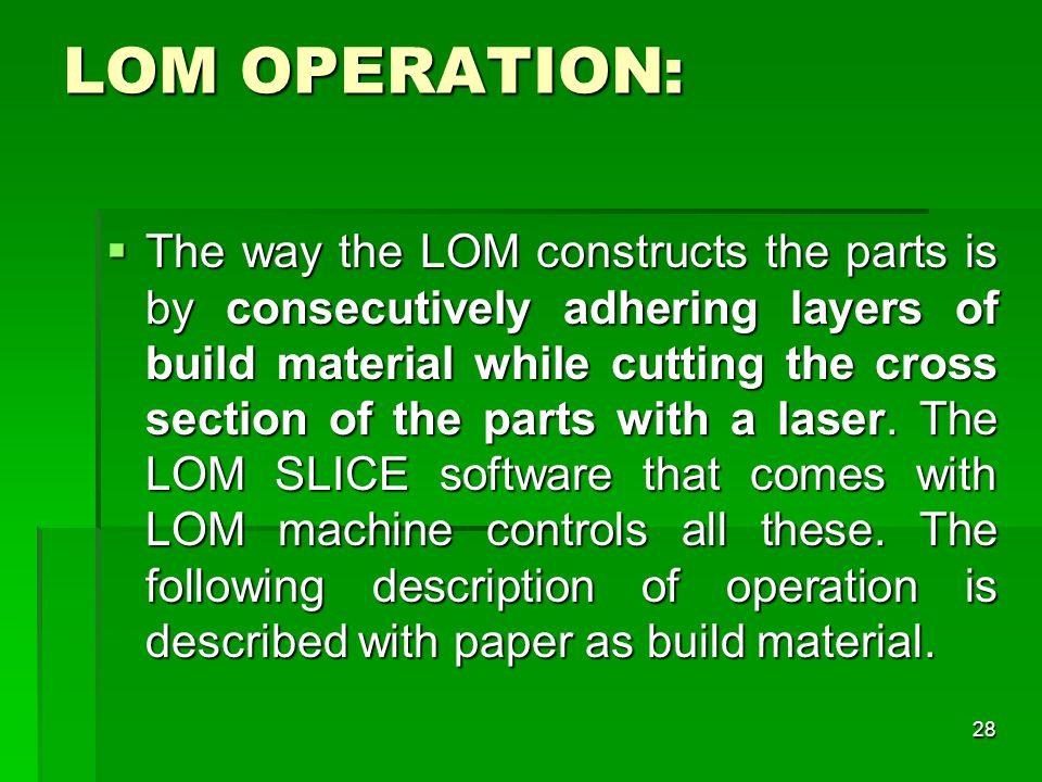 LOM OPERATION: