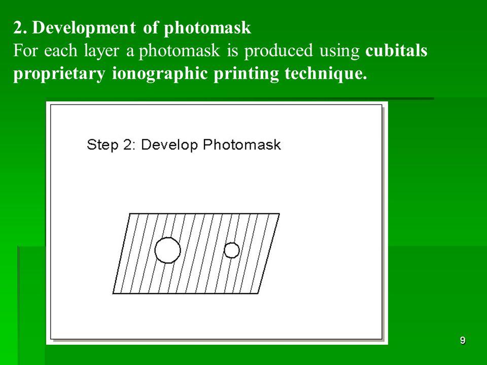 2. Development of photomask