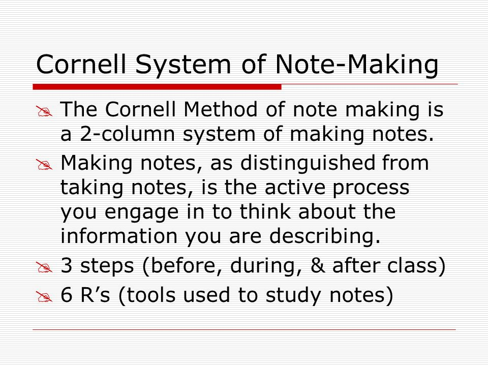 Cornell System of Note-Making