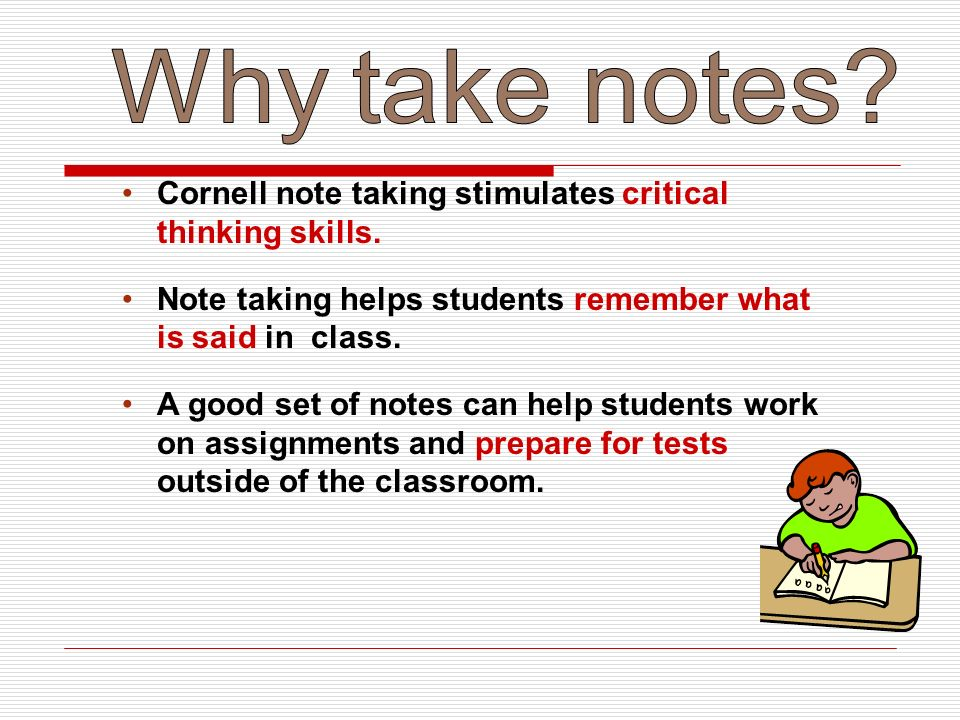 learn note making skills Note-taking is the practice of recording information captured from another source  by taking  note-taking is an important skill for students, especially at the college  level in some  this interesting method is amazing for students who like to  organize information neatly and learn well by recognizing patterns a mind map.