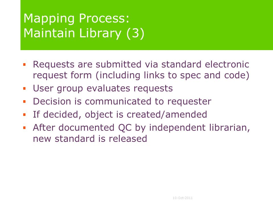 Mapping Process: Maintain Library (3)
