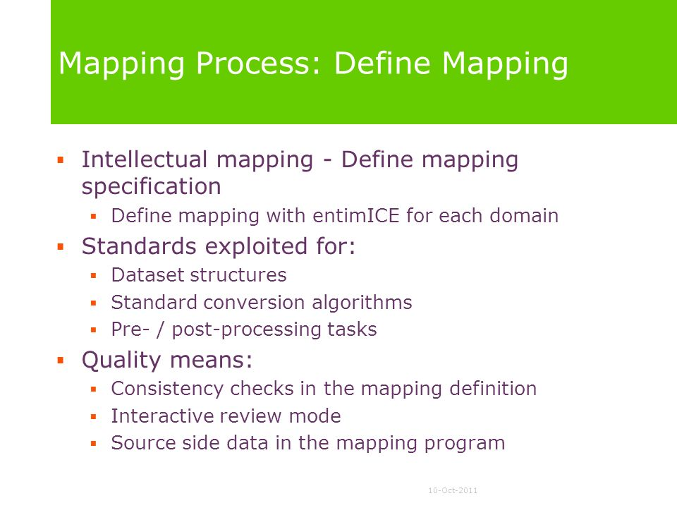 Mapping Process: Define Mapping