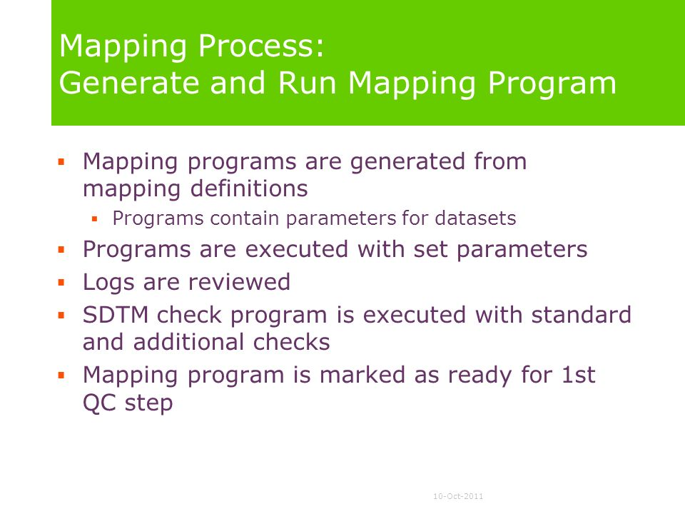 Mapping Process: Generate and Run Mapping Program