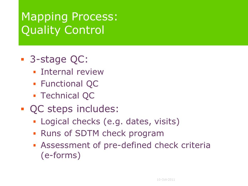 Mapping Process: Quality Control