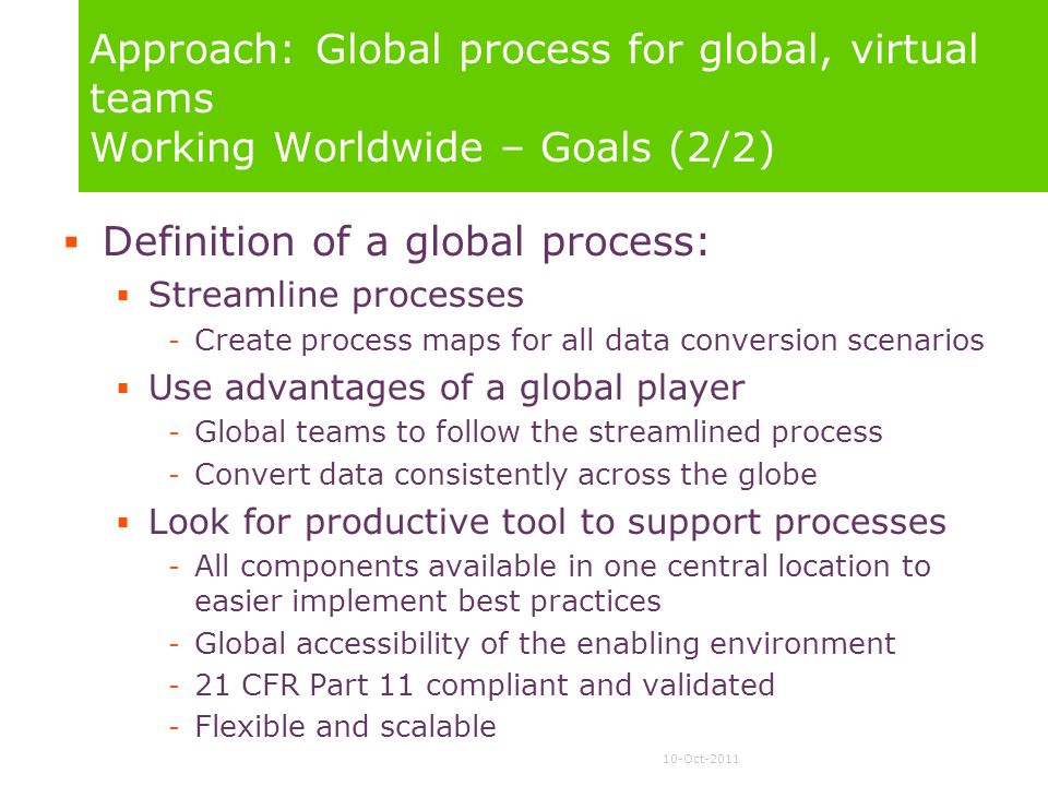 Definition of a global process: