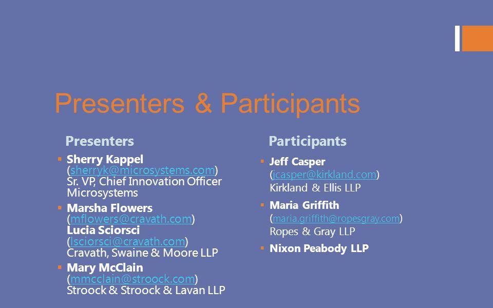 Presenters & Participants