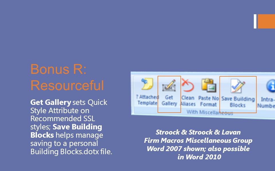 Bonus R: Resourceful