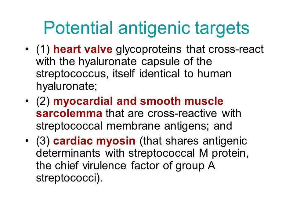 Potential antigenic targets
