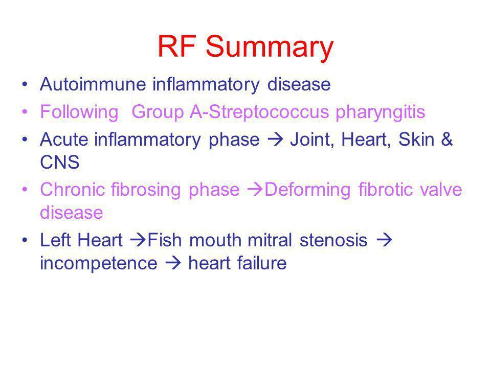 RF Summary Autoimmune inflammatory disease