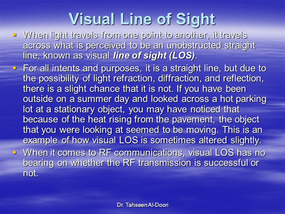 Visual Line of Sight