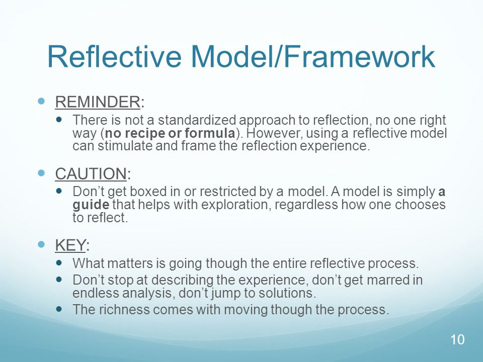 Reflective Model/Framework