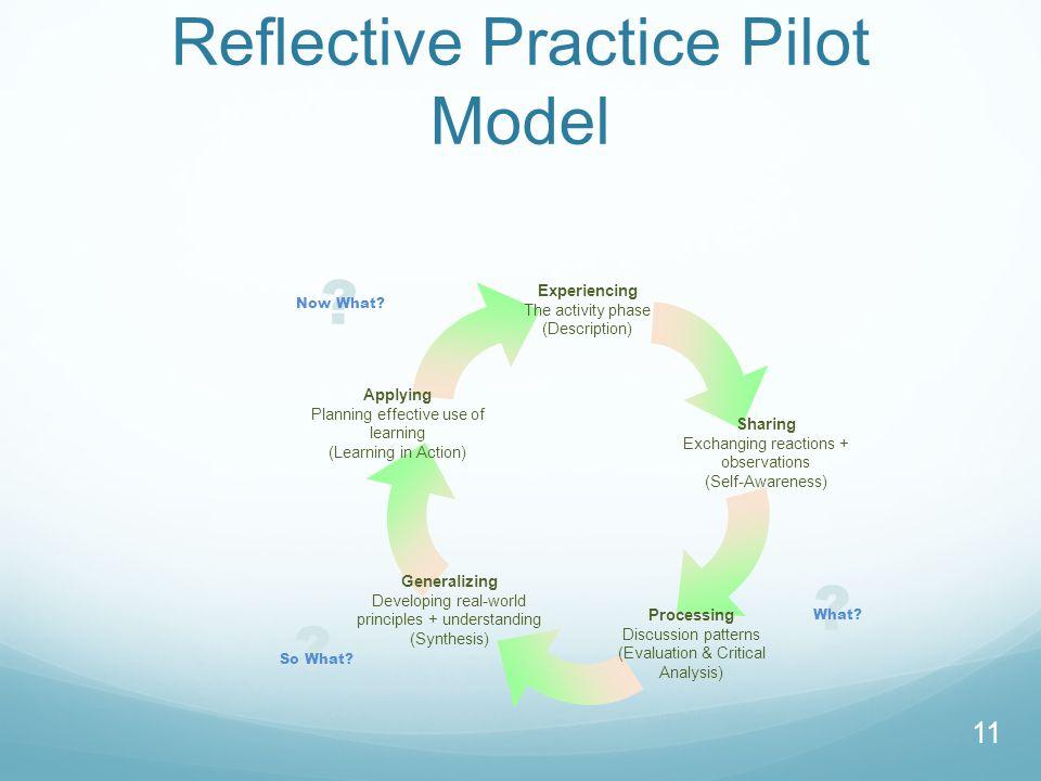 Reflective Practice Pilot Model