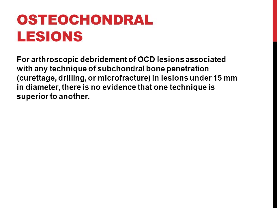 Osteochondral Lesions