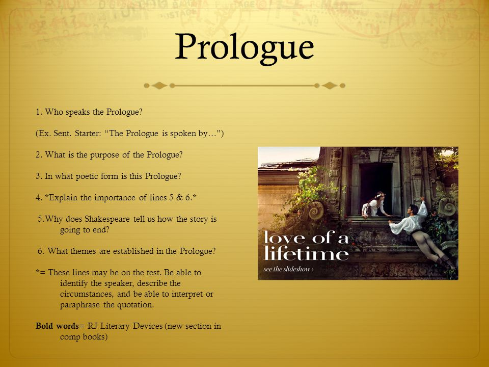 Prologue 1. Who speaks the Prologue