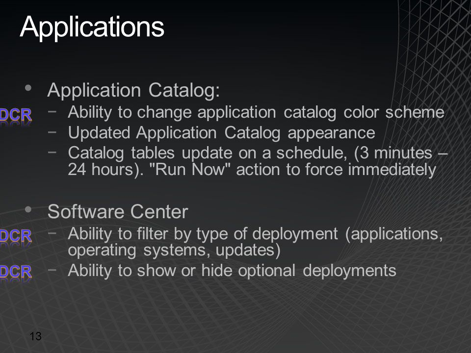 Applications Application Catalog: Software Center