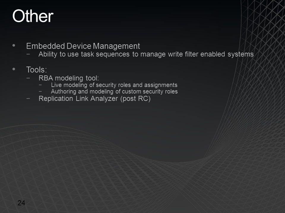Other Embedded Device Management Tools: