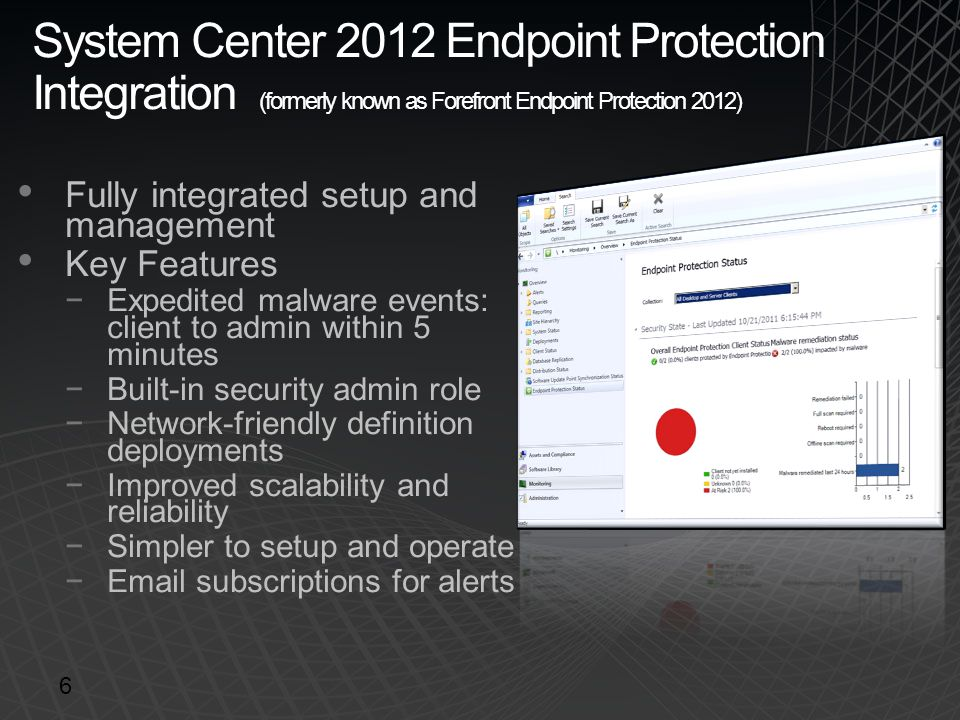 System Center 2012 Endpoint Protection Integration (formerly known as Forefront Endpoint Protection 2012)
