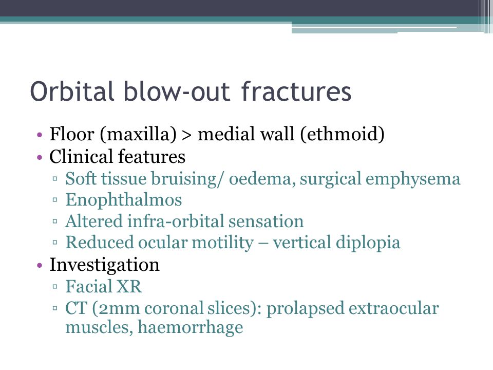 Orbital blow-out fractures