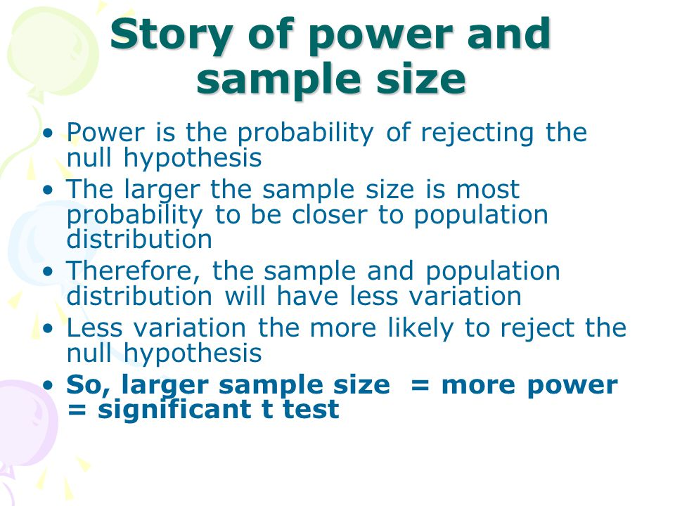 Story of power and sample size