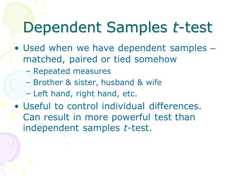 Dependent Samples t-test