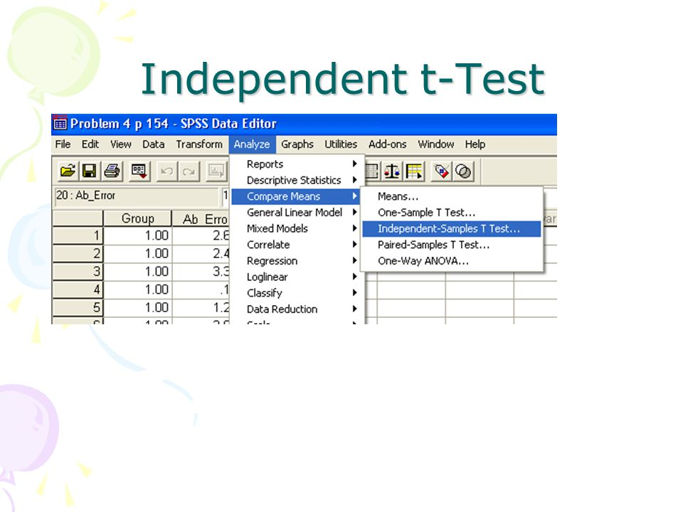 Independent t-Test