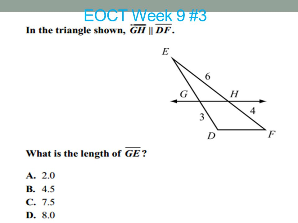 EOCT Week 9 #3