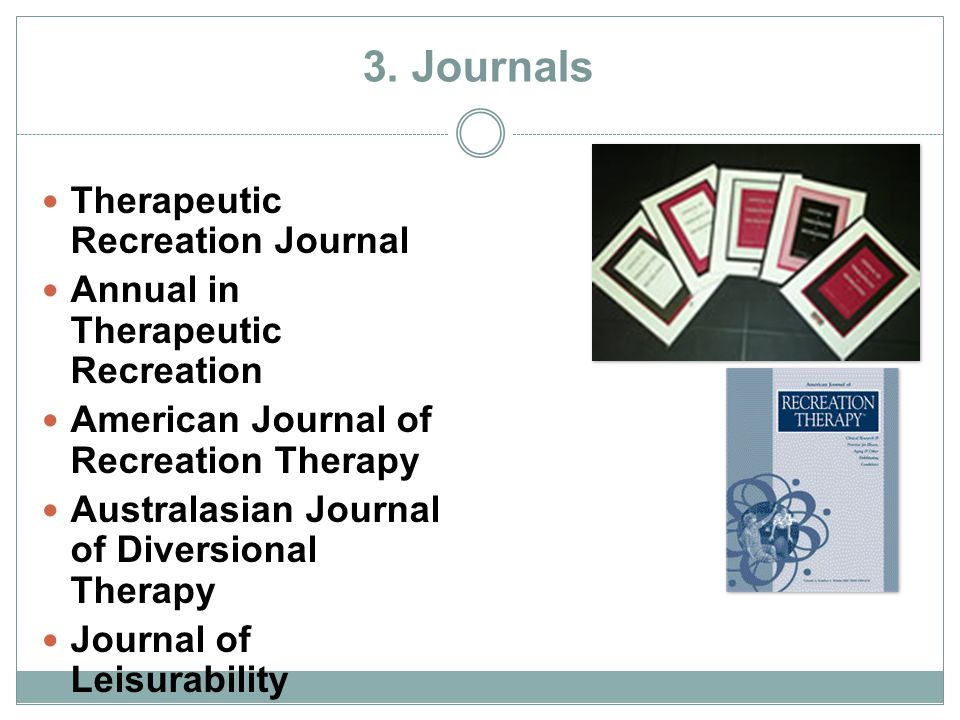 3. Journals Therapeutic Recreation Journal