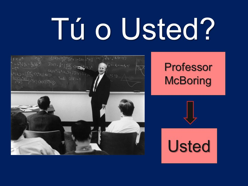 Tú o Usted Professor McBoring Usted