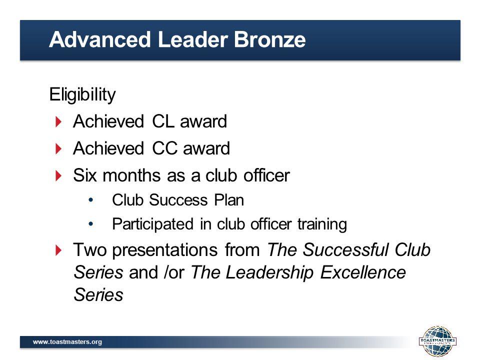 Advanced Leader Bronze