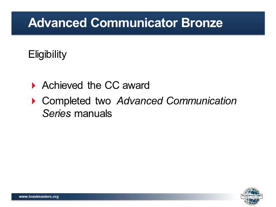 Advanced Communicator Bronze