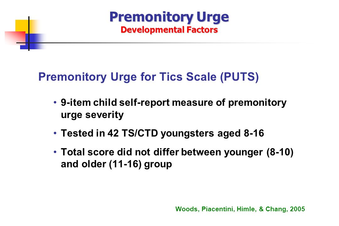 Premonitory Urge Developmental Factors