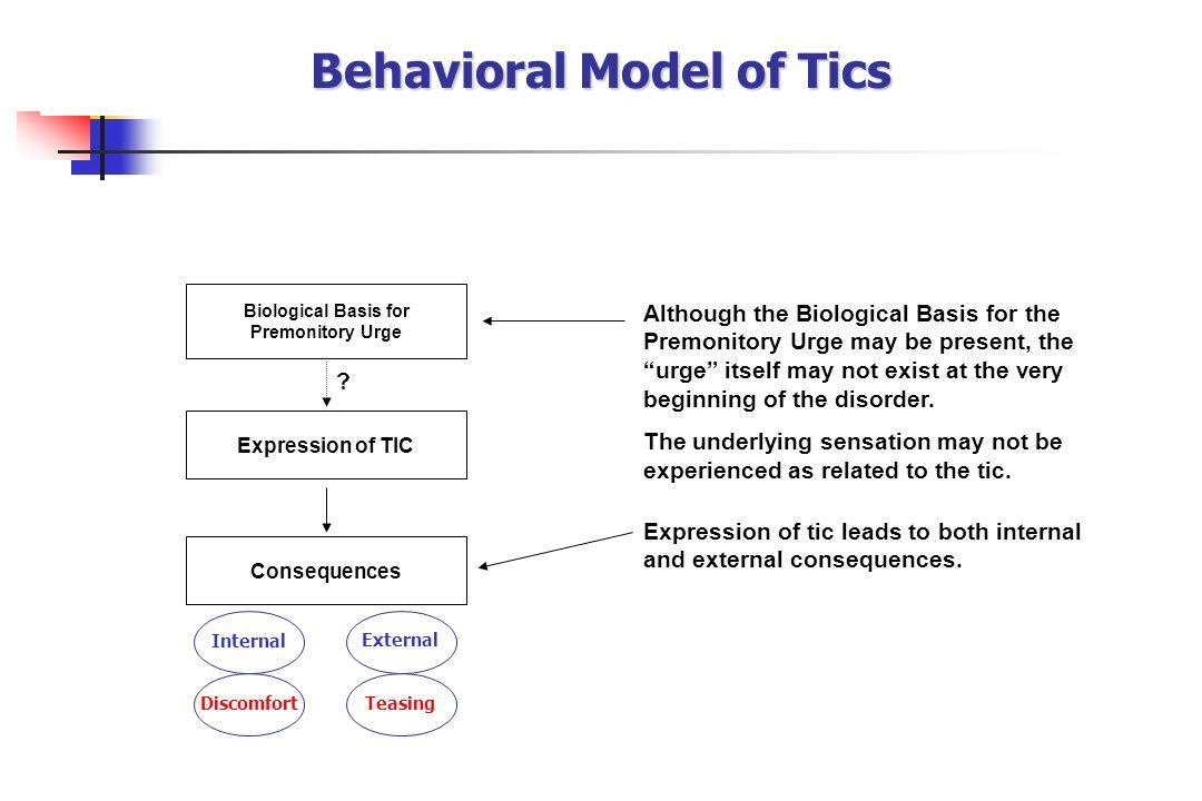 Behavioral Model of Tics