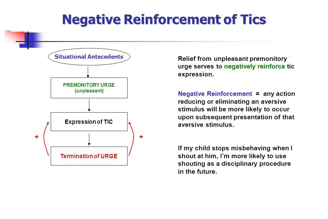 Negative Reinforcement of Tics