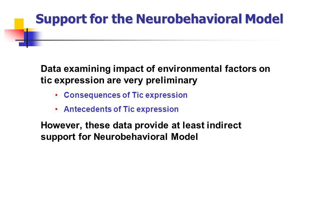 Support for the Neurobehavioral Model