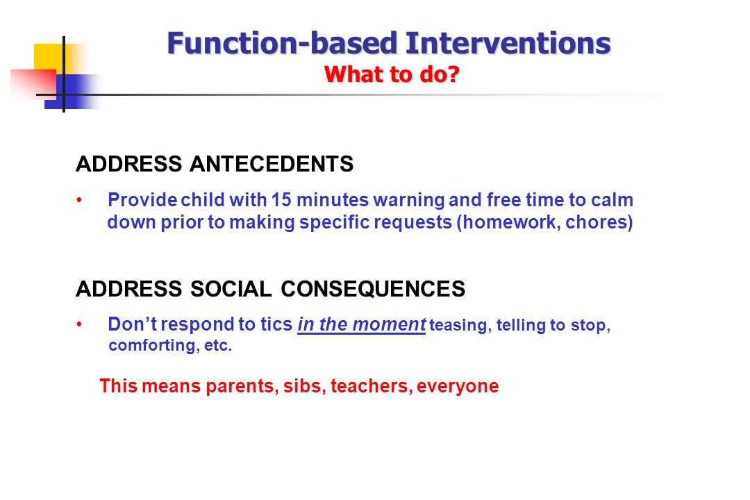 Function-based Interventions What to do