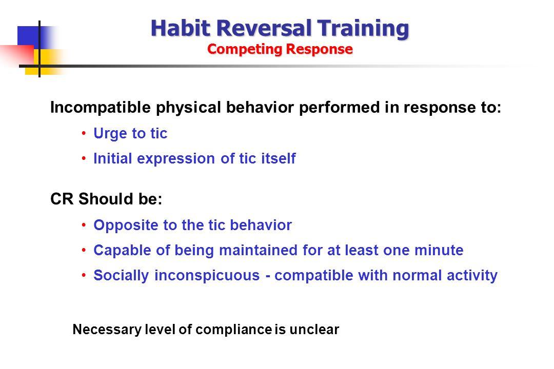 Habit Reversal Training Competing Response