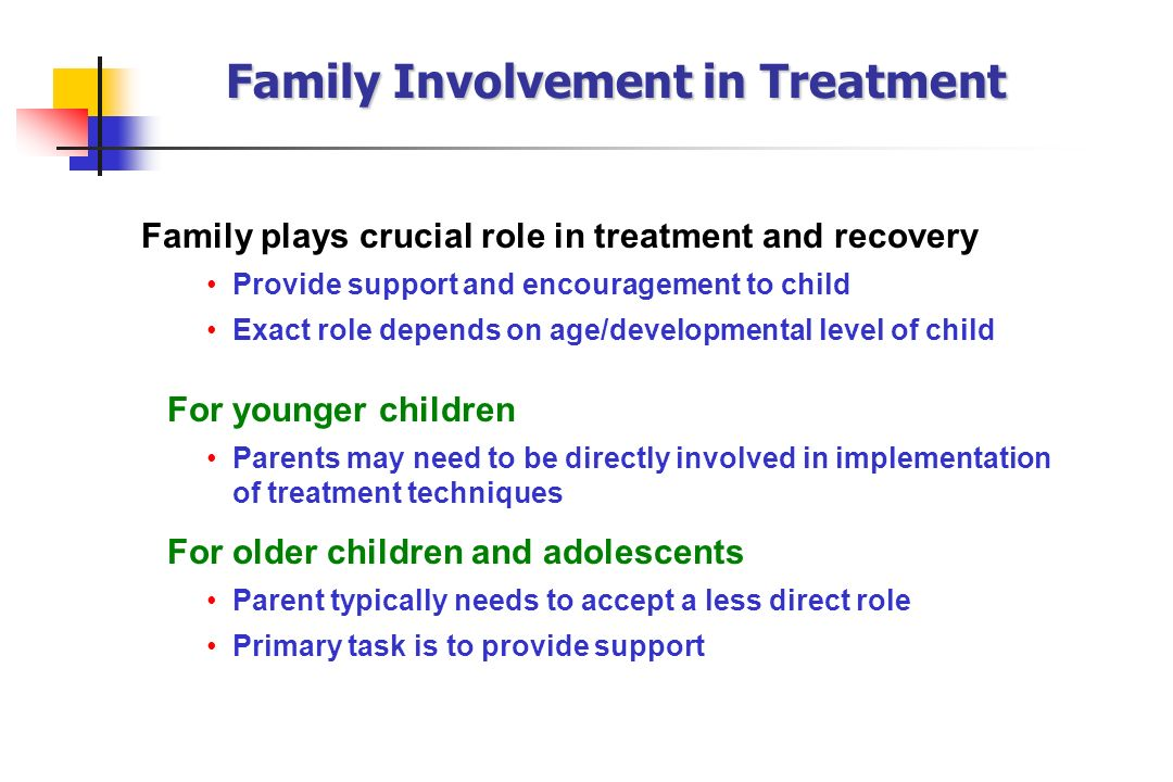 Family Involvement in Treatment