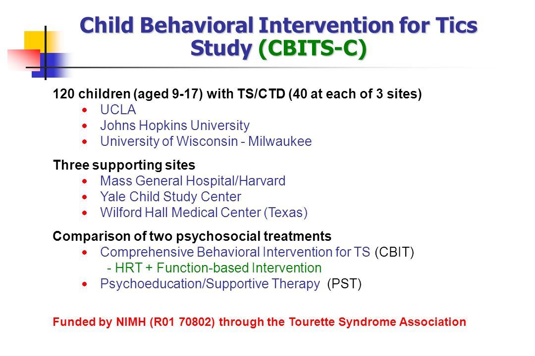 Child Behavioral Intervention for Tics Study (CBITS-C)