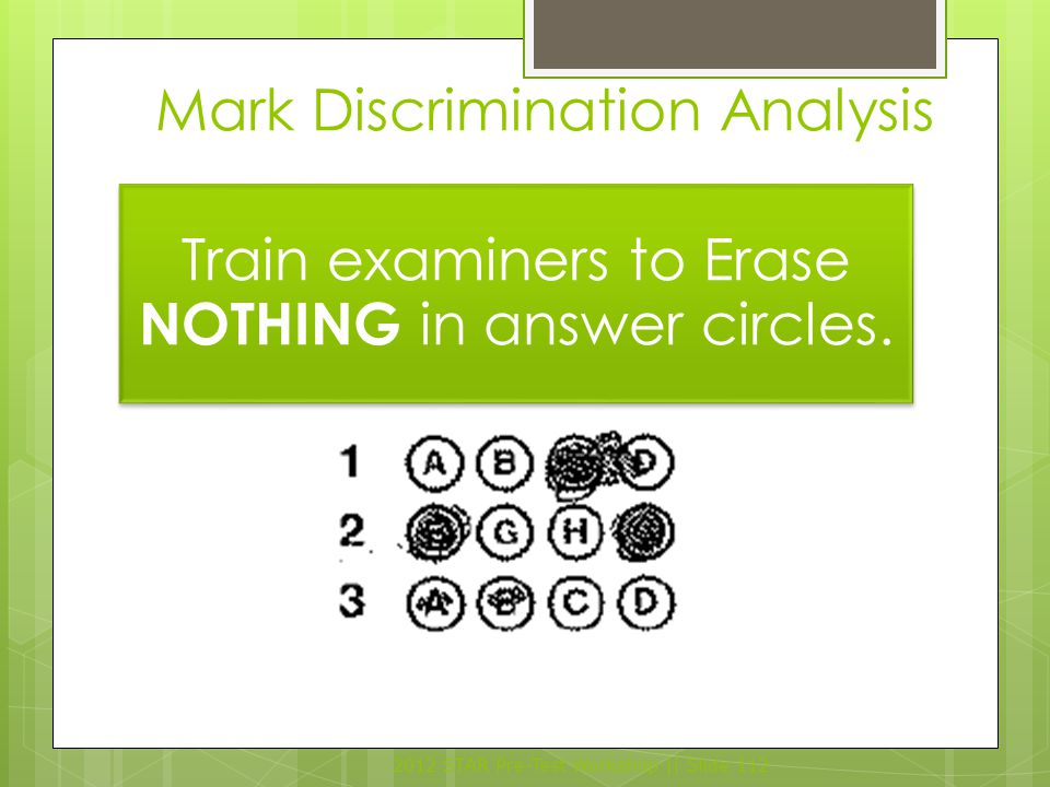 Mark Discrimination Analysis