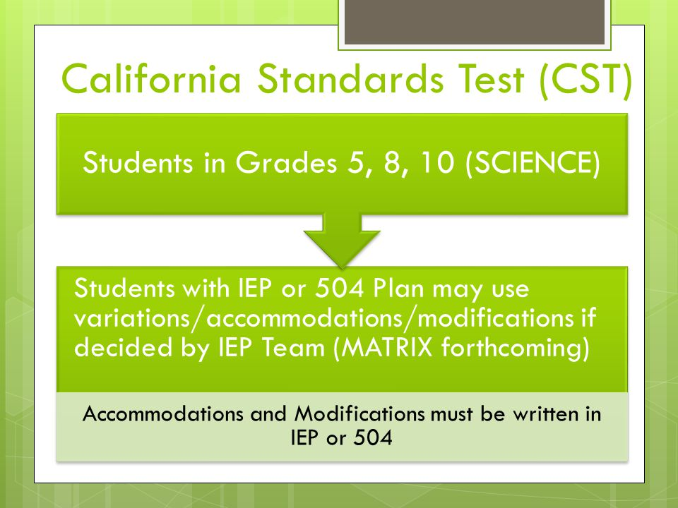 California Standards Test (CST)