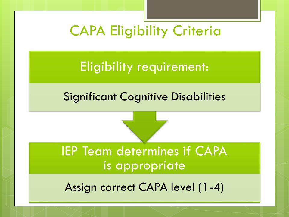 CAPA Eligibility Criteria