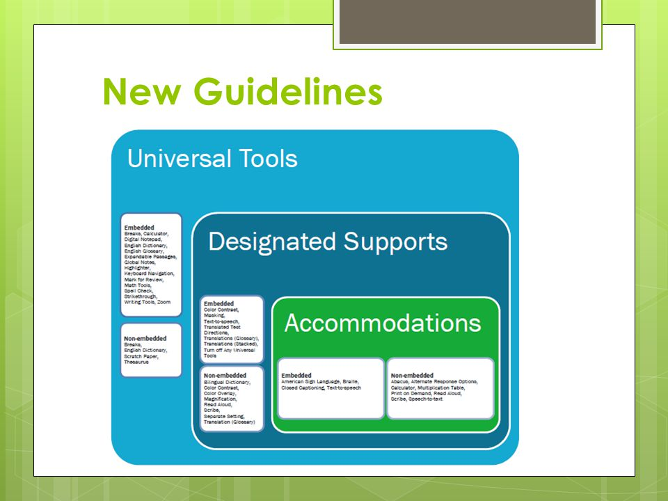 New Guidelines Specifies Universal Tools - EVERYONE