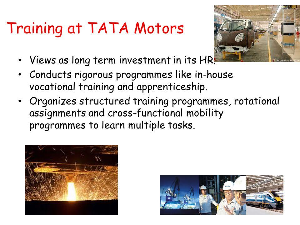 Training at TATA Motors