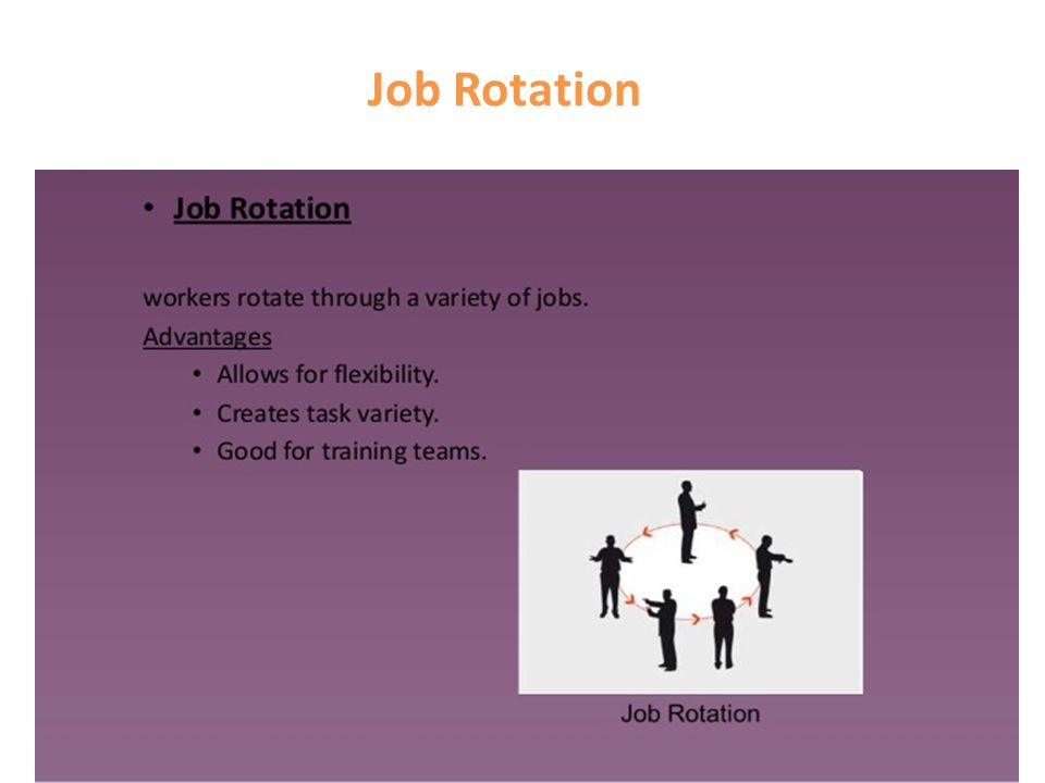 benefits of job rotation Benefits of job rotation job rotation is considered as an effective tool for successful implementation of hr strategy it is about settling employees at the right place where they can deliver the maximum results.