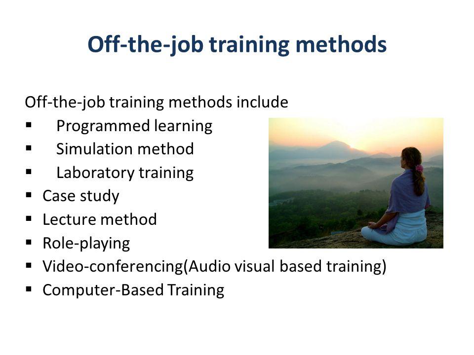 Off-the-job training methods
