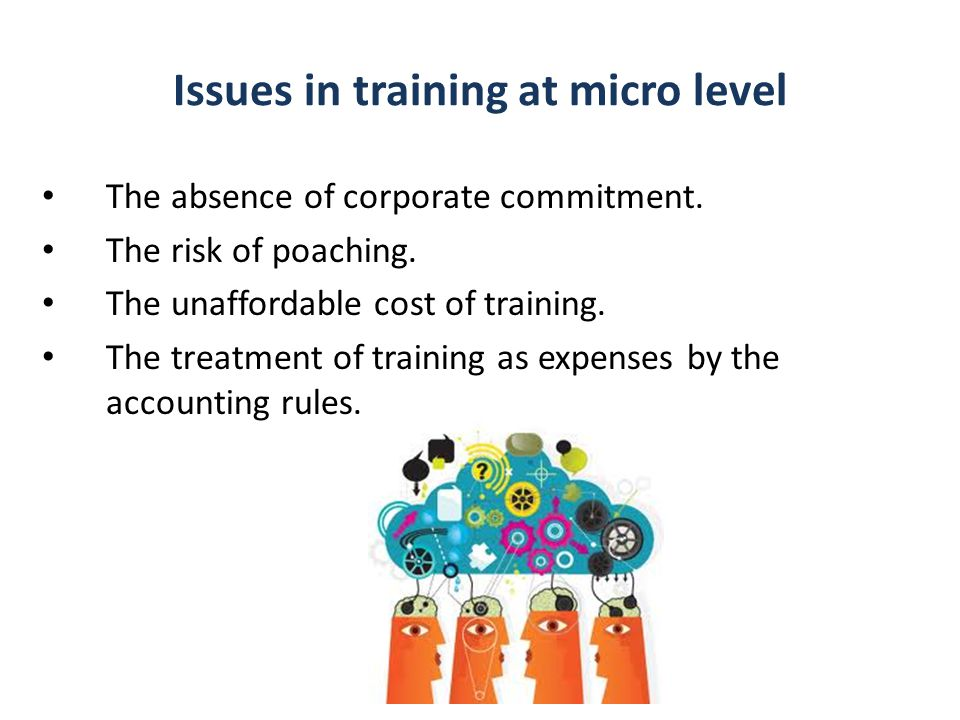 Issues in training at micro level